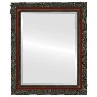 Rome Beveled Rectangle Mirror Frame in Rosewood