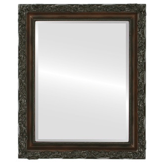 Rome Beveled Rectangle Mirror Frame in Walnut