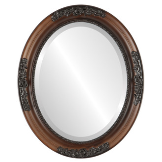 Versailles Beveled Oval Mirror Frame in Walnut