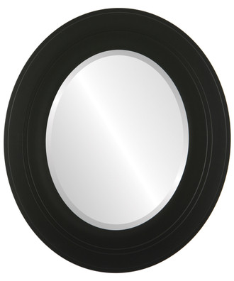 Palomar Beveled Oval Mirror Frame in Matte Black