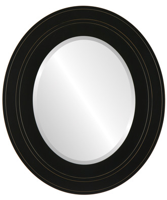 Palomar Beveled Oval Mirror Frame in Rubbed Black