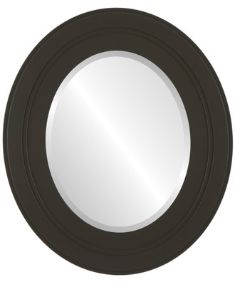 Palomar Beveled Oval Mirror Frame in Stone Brown
