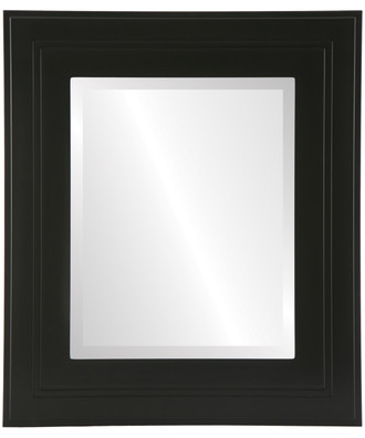 Palomar Beveled Rectangle Mirror Frame in Matte Black