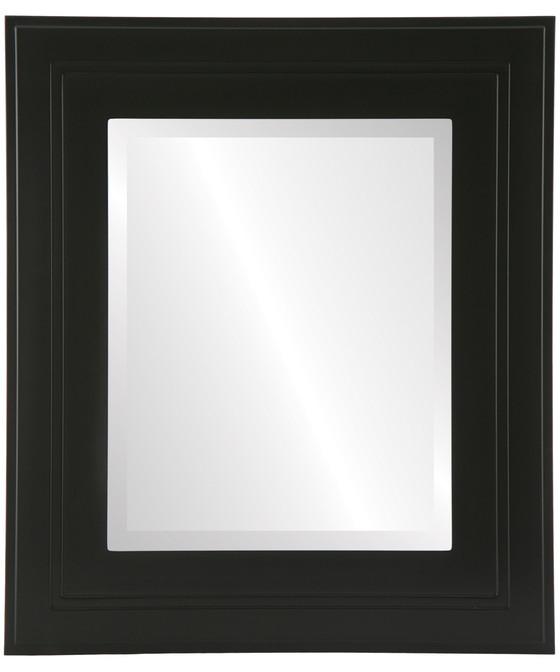 Palomar Beveled Rectangle Mirror Frame in Matte Black