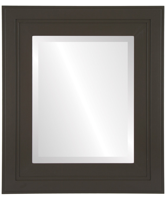 Palomar Beveled Rectangle Mirror Frame in Stone Brown