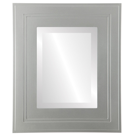 Palomar Beveled Rectangle Mirror Frame in Bright Silver