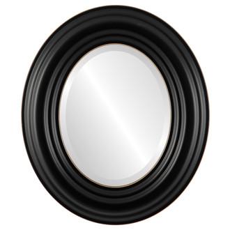 Regalia Beveled Oval Mirror Frame in Rubbed Black