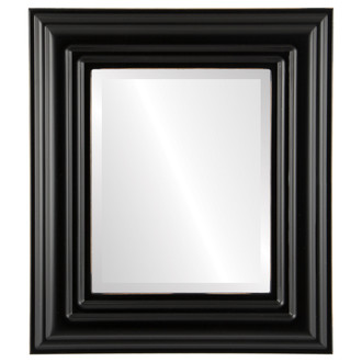 Regalia Beveled Rectangle Mirror Frame in Rubbed Black