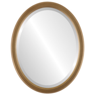 Toronto Beveled Oval Mirror Frame in Desert Gold