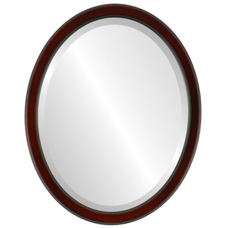 Toronto Beveled Oval Mirror Frame in Rosewood