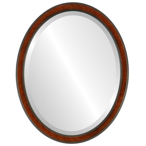 Toronto Beveled Oval Mirror Frame in Vintage Cherry