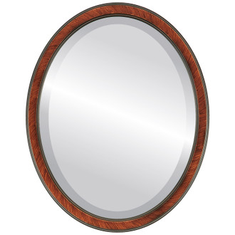 Toronto Beveled Oval Mirror Frame in Vintage Walnut