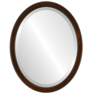 Toronto Beveled Oval Mirror Frame in Walnut