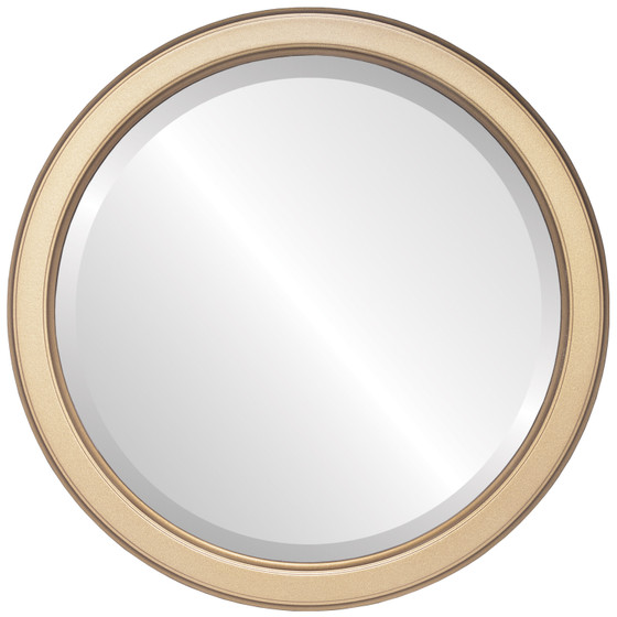 Toronto Beveled Round Mirror Frame in Desert Gold
