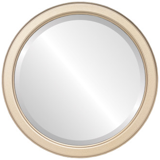 Toronto Beveled Round Mirror Frame in Gold Spray