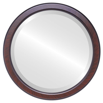Toronto Beveled Round Mirror Frame in Vintage Cherry