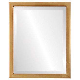 Toronto Beveled Rectangle Mirror Frame in Desert Gold