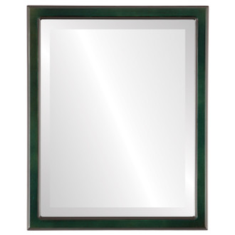 Toronto Beveled Rectangle Mirror Frame in Hunter Green