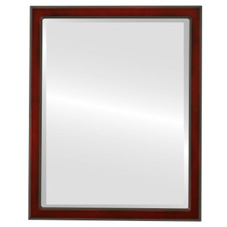 Toronto Beveled Rectangle Mirror Frame in Rosewood