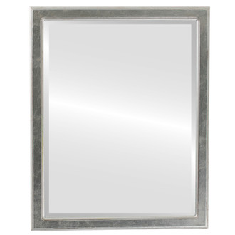 Toronto Beveled Rectangle Mirror Frame in Silver Leaf with Brown Antique