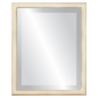 Toronto Beveled Rectangle Mirror Frame in Taupe
