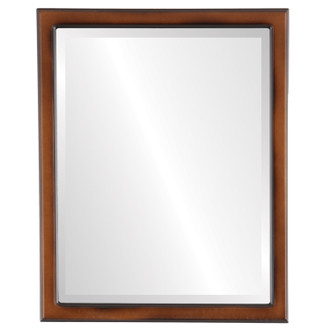 Toronto Beveled Rectangle Mirror Frame in Walnut