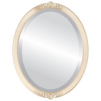 Athena Beveled Oval Mirror Frame in Taupe