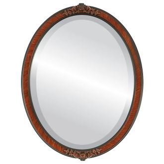Athena Beveled Oval Mirror Frame in Vintage Walnut