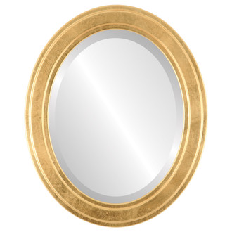 Wright Beveled Oval Mirror Frame in Gold Leaf