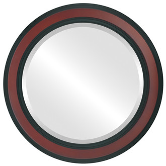 Wright Beveled Round Mirror Frame in Rosewood