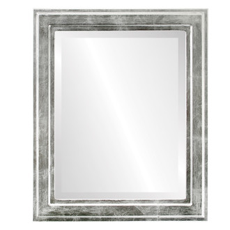 Wright Beveled Rectangle Mirror Frame in Silver Leaf with Black Antique