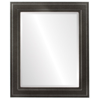 Wright Beveled Rectangle Mirror Frame in Black Silver