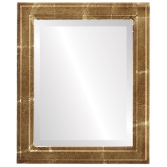 Wright Beveled Rectangle Mirror Frame in Champagne Gold