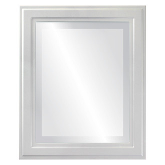 Wright Beveled Rectangle Mirror Frame in Linen White
