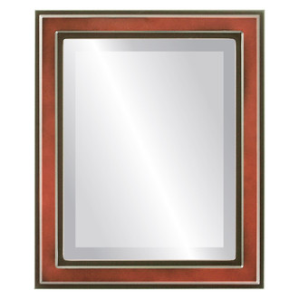 Wright Beveled Rectangle Mirror Frame in Rosewood