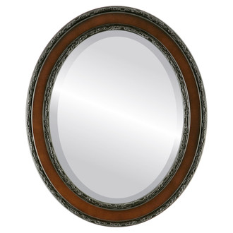 Monticello Beveled Oval Mirror Frame in Rosewood