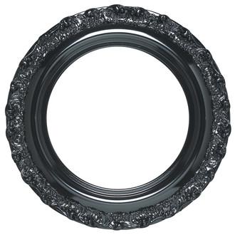 Venice Round Frame # 454 - Gloss Black