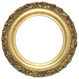 Venice Round Frame # 454 - Gold Leaf