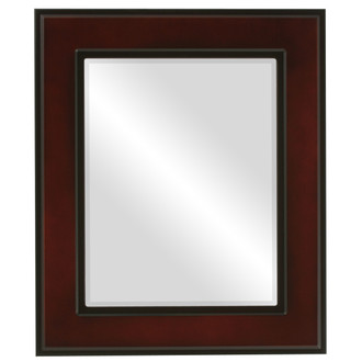 Montreal Beveled Rectangle Mirror Frame in Rosewood