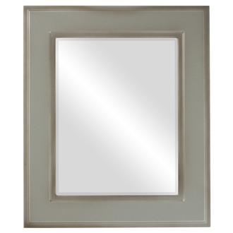 Montreal Beveled Rectangle Mirror Frame in Silver Shade