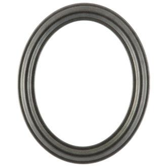 Philadelphia Oval Frame # 460 - Black Silver