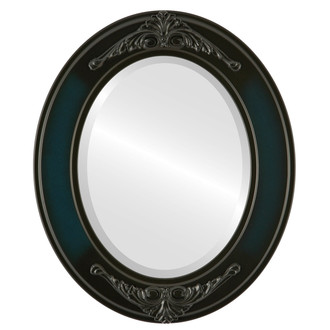 Ramino Beveled Oval Mirror Frame in Royal Blue