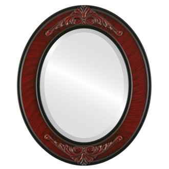 Ramino Beveled Oval Mirror Frame in Vintage Cherry