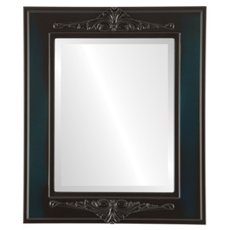 Ramino Beveled Rectangle Mirror Frame in Royal Blue