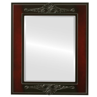 Ramino Beveled Rectangle Mirror Frame in Rosewood