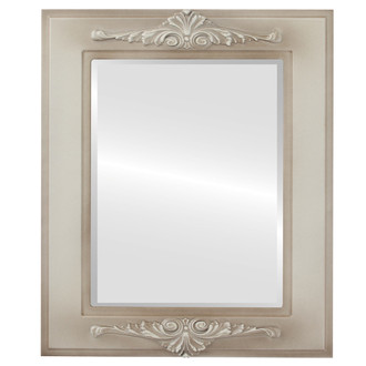 Ramino Beveled Rectangle Mirror Frame in Taupe