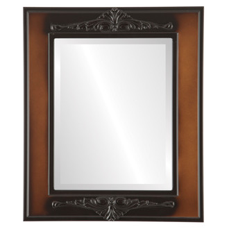 Ramino Beveled Rectangle Mirror Frame in Walnut