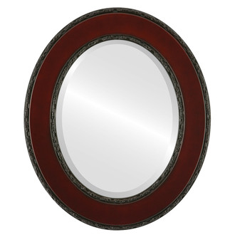 Paris Beveled Oval Mirror Frame in Rosewood
