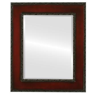 Paris Beveled Rectangle Mirror Frame in Rosewood