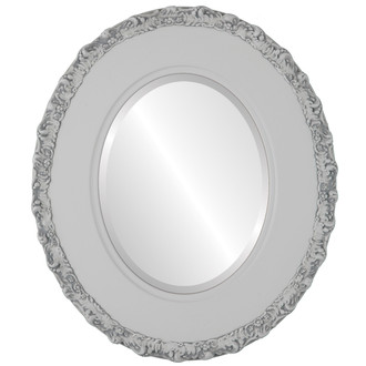 Williamsburg Beveled Oval Mirror Frame in Linen White